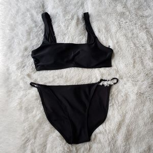 🆕️ Aerie Swim Black Two Piece Swimsuit
